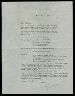 Midwest MS Conroy Bx.4, Fl.#189, Letter to Gladys, Feb.20, 1961