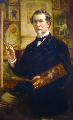 George P.A. Healy. Self Portrait, Done in Paris. c. 1880.