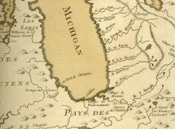 Partie Occidentales de la Nouvelle France ou Canada, 1745.