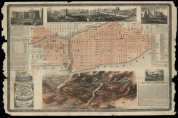 Richard's Illustrated and Statistical Map of the Great Conflagration in Chicago.