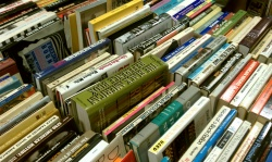 Donated books abound at the 2011 Book Fair.