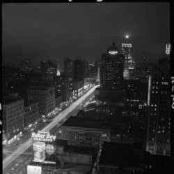 Esther Bubley, Night View of Michigan Avenue, 1948. Granger 2170.