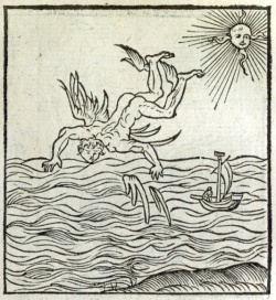 Andrea Alciati. Image of Icarus, from the Emblematum liber. 1536.