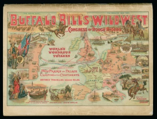 "Back cover; ""World's Wondrous Voyages""; "" From Prairie to Palace""; ""Camping on two Continents""; illustrated map."
