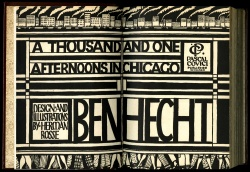 Ben Hecht, A Thousand and One Afternoons in Chicago