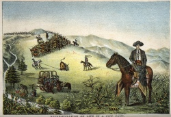 Charles A.Siringo. Representation of Life in a Cow Camp, from A Texas Cow-boy.