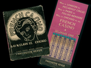 Matchbook promoting Chicago's French Casino. Part of the Ephemeral by Design exhibition.