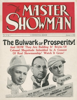 Cover, The Master Showman.