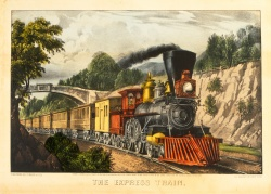Currier & Ives. The Express Train. c.1930. Poole #04.