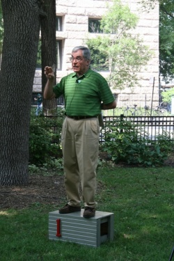 Bughouse Square Debater Herb Caplan, 2010